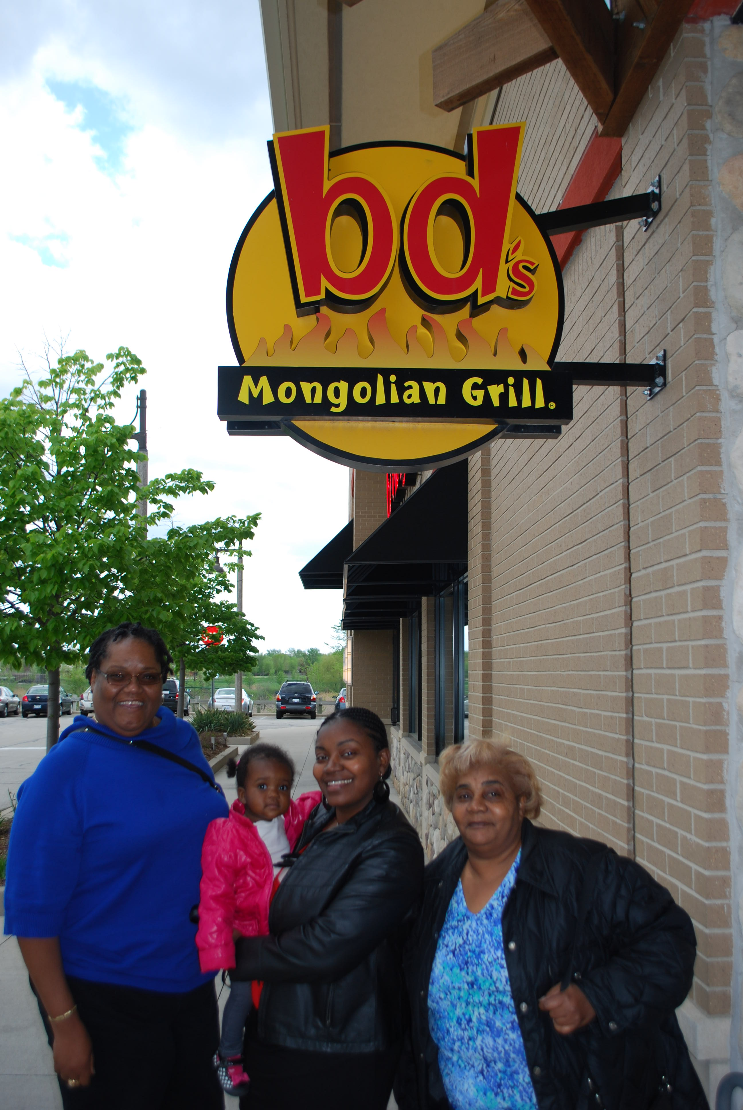 Me with My Grandbaby Mink, My Future Daughter-In-Law LaToya and My Son's Future Mother-In-Law Louise
